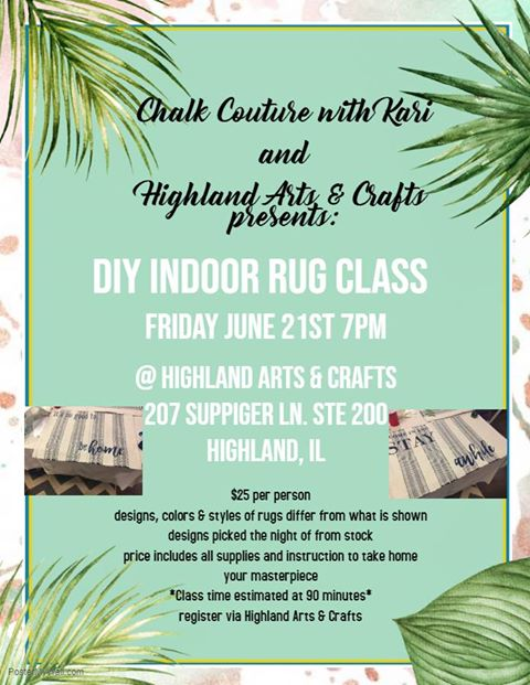 chalk couture rug class
