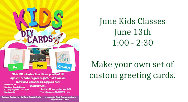 Kids Chalk Couture Card Making Class