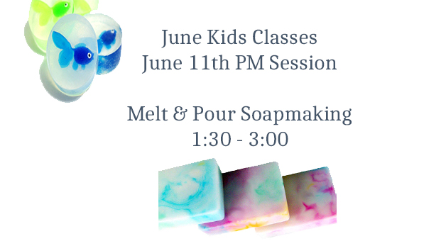 kids melt and pour soap class
