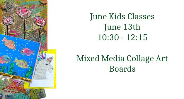 kids mixed media art class