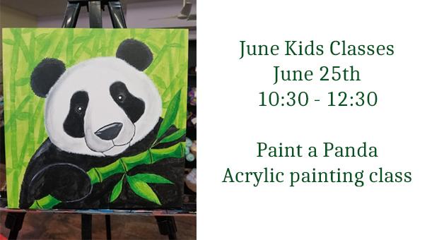 kids acrylic paint class