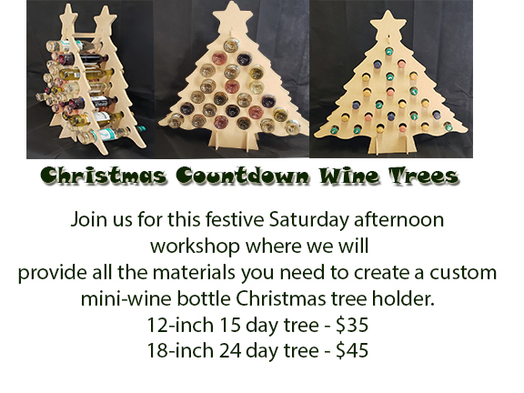 Wine Bottle Christmas Tree Craft.Diy Countdown To Christmas Wine Trees Highland Arts Crafts