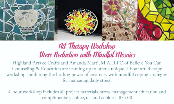 art therapy with mosaics
