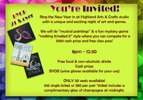 new years eve paint party