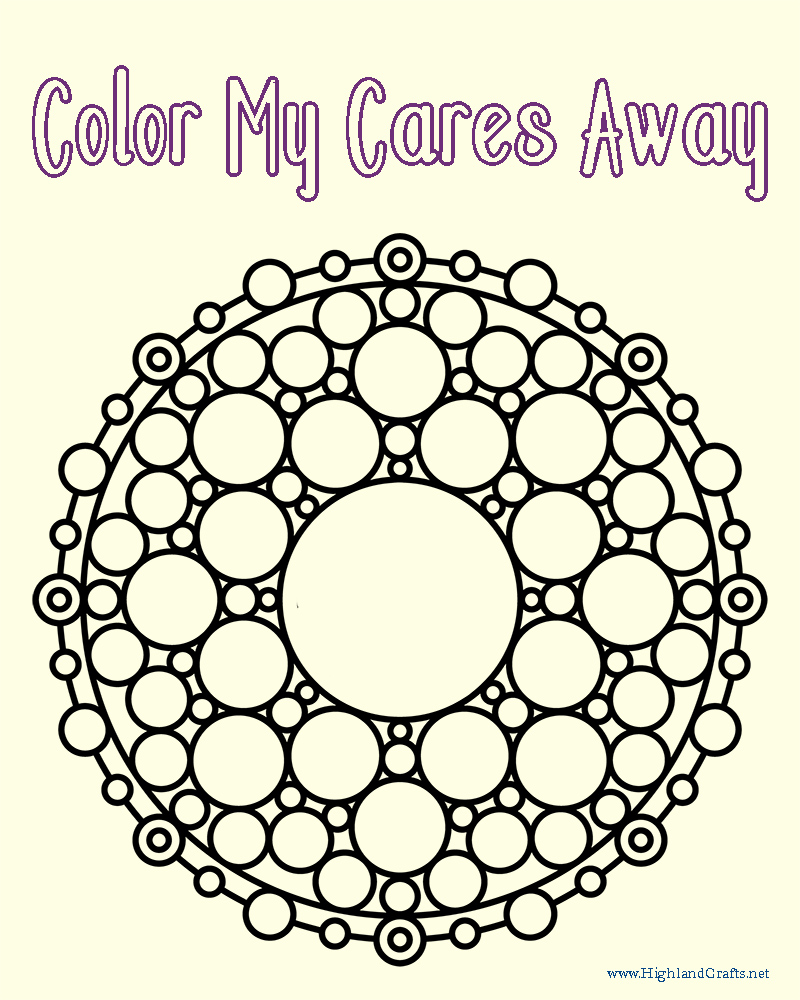 free art journaling coloring page mandala