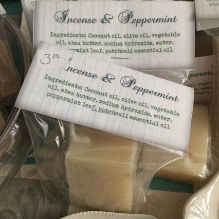 incense and peppermint soap