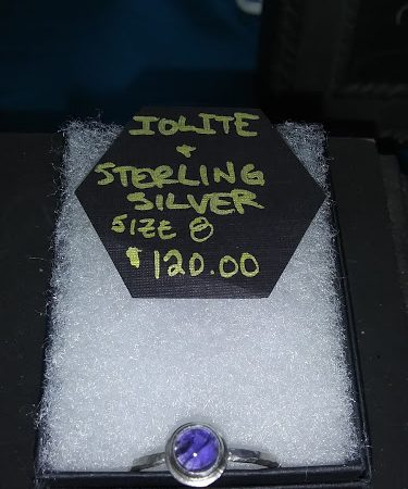 iolite and sterling ring