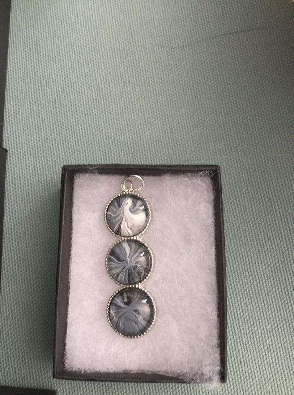 poured paint pendants