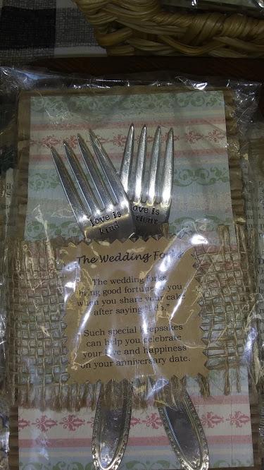 metal stamped wedding forks