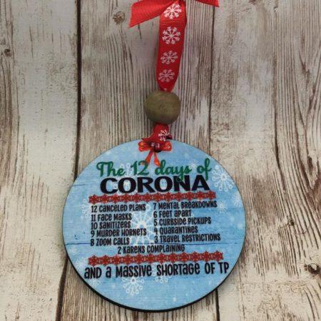 12 days of corona christmas ornament