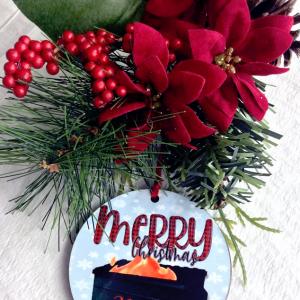 dumpster fire Christmas ornament 2020