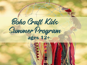 boho craft kids summer